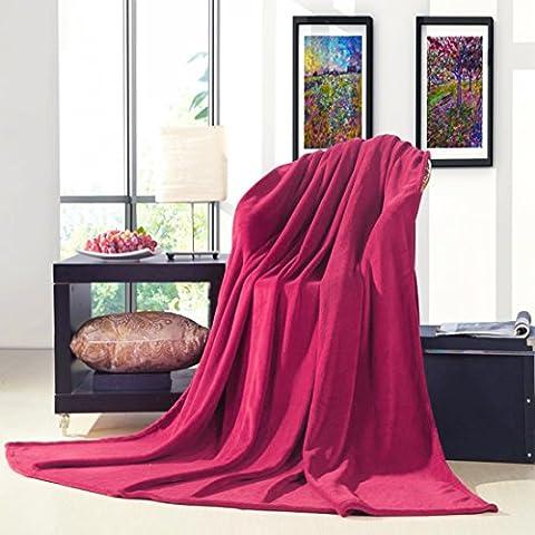 sourcingmap Manta para Sofá Cama Todas Las Estaciones Colección Suave T/F/Q - Burdeos 2 x 2,3m, 200 x 230cm (Largo x