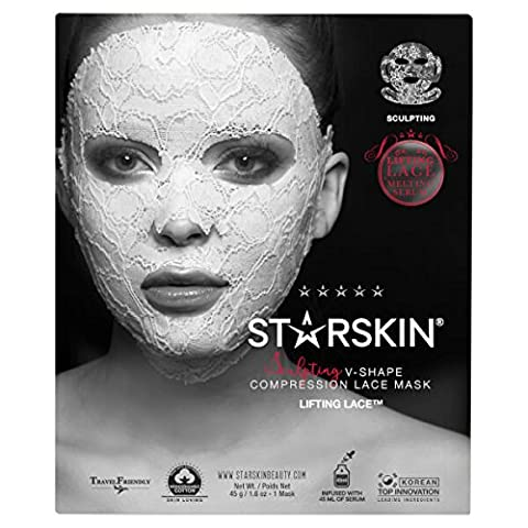 STARSKIN Lifting Lace™ Sculpting Face Mask, Target sagging skin, delivers a tightening effect that visibly transforms sagging