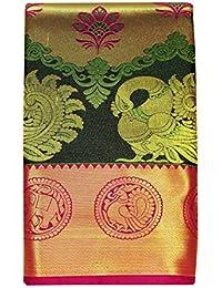 Saravanabava Silks Kanchipuram Silk Saree Women's Pick & Pick Bridel Art Silk Sarees - SRBS051