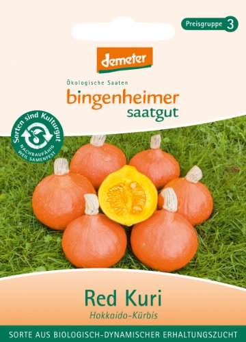 Bingenheimer Saatgut - Hokkaido Kürbis Red Kuri - Gemüse Saatgut / Samen