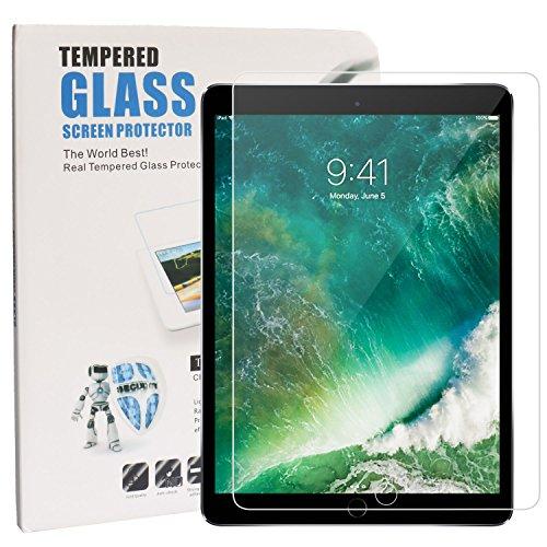 iPad Pro 10,5Displayschutzfolie, pemotech [gehärtetem Glas] mit [Ultra Dünn Stärke] [blasenfreie Installation] [9H Härte] [Crystal Clear] [Premium Scratch Resist] für Apple iPad Pro 10.5Tablet (2017Release) (Automatische Release Messer)