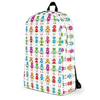Kids Backpack | Kids School Bag/Kids Rucksack | Robots Design/Robots Print/Robot Pattern | Waterproof/Water Resistant | Integrated Laptop/Tablet Pocket