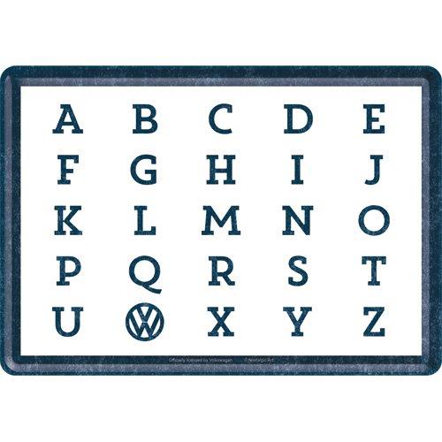 Nostalgic-Art 10300 Volkswagen - VW - ABC, Blechpostkarte 10x14 cm