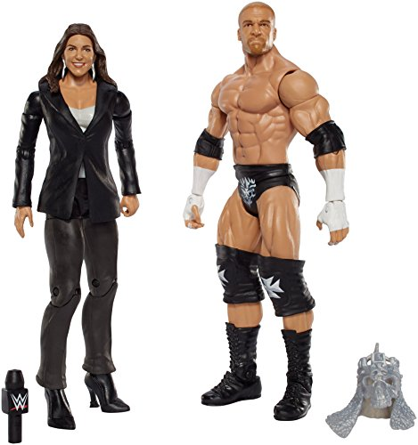 WWE Mattel - DJR98 Battle Pack - Triple H & Stephanie - 2 x Actionfiguren, 15cm (Wwe Action-figuren Triple H)
