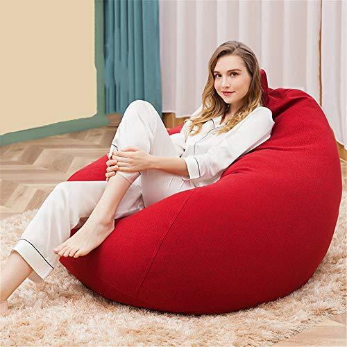 YLOVOW Sitzsack Stuhl, (mit Füllstoff) Sitzsack Sofa, Lazy Sofa, Wassertropfen Form, Bequem und Weich, Abnehmbare Design, Griff, Reißverschluss,Rot