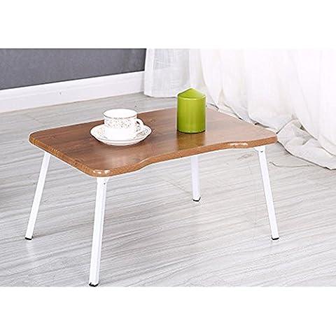 KHSKX Scrivania portatile elegante, minimalista, letto per comprimere la tabella riassuntiva delle pigrone, impermeabile scrittura apprendimento piccola scrivania , deep brown