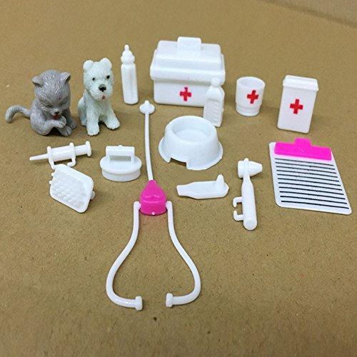 Juguetes Creativos, Zantec 15pcs Mini equipos médicos Juguetes Set para mascotas Barbie Doll Accessories