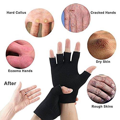 Feuchtigkeitsspendende Gel Handschuhe,1 Paar Unisex SPA Handschuhe, Magische Kosmetikerin erweichen Whitening feuchtigkeitsspendende Behandlung Handpflege