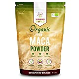 Organic Peruvian Raw Maca Powder | Nature's Perfect Superfood for Energy & Stamina | Great Source of Amino Acids, B Vitamins & Iron | Ideal for Smoothies, Breakfast & Desserts 300g by Superfood World Ltd