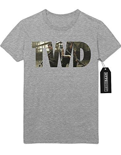 T-Shirt The Walking Dead TWD Rick & Daryl C777667 Grau