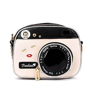 BESTOYARD Frauen-Weinlese-Kamera-Form-Kleine Nette Schicke Lange Schultertasche-Handtaschen-Bote-Tasche