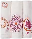 aden + anais 9202G - Pack de 3 muselinas de bambú con estampados, color blanco y rosa