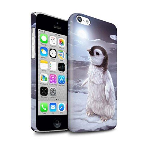 Officiel Elena Dudina Coque / Clipser Brillant Etui pour Apple iPhone 5C / Le Calin/Chiot/Chien Design / Les Animaux Collection Le Voyageur/Manchot