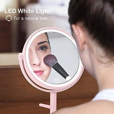 Kasimir Kosmetikspiegel mit Licht Schminkspiegel mit LED