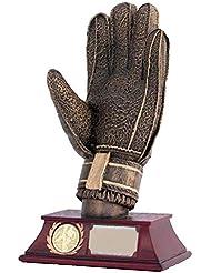 AS-P Torwarthandschuh Pokal inkl. Ihrer Wunschgravur und Emblem, Höhe: 20.5 cm