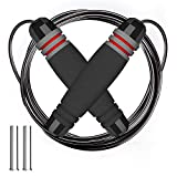 fitpolo Pro Weighted Jump Rope for Kids/Men/Women with Memory Foam Handles and Thick