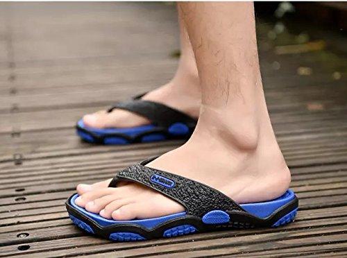 Xing Lin pour homme Sandales pour homme Chaussons, grande pour homme Extra Large pour homme Chill et tours 916 black blue