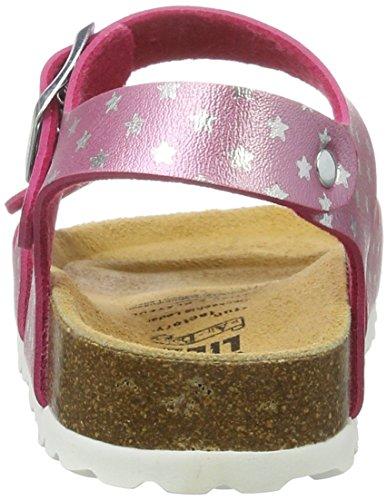 Bioline Flache Lico Pink pink silber Sandal Mädchen AwqUpgBx5