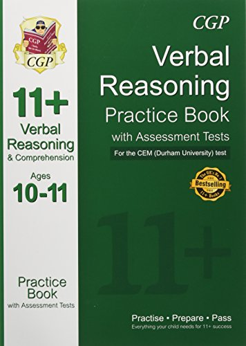 11+ Verbal Reasoning Practice Book with Assessment Tests (Ages 10-11) for the Cem Test Cover Image
