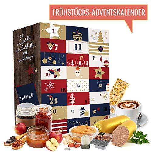 Frühstück Adventskalender I Weihnachtskalender mit 24 Frühstücks-Überraschungen für jeden Morgen. Advent-Kalender für Erwachsene Eltern Papa Mama