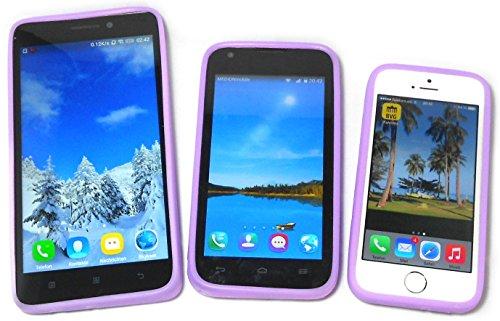 (PRESKIN – Silikon Case Cover Bumper, Universal Schutz-Hülle für alle Smartphones 4.0 bis 5.7 '' Zoll Display, mehr Grip und Schutz, Glow in the Dark Frame, stoßabsorbierender Silikon-Rahmen mit Leucht-Effekt)