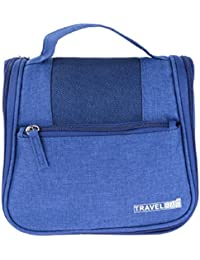 Italish Multipurpose Waterproof Travel Makeup Cosmetic Bag Organizer Case Traveling Handle Bag For Women-Blue