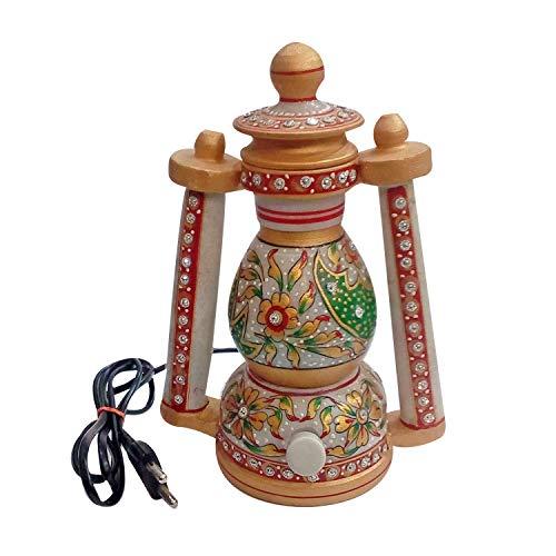 India Meets India Meenakari Mármol Arte Eléctrico Hermosa Linterna 8 Pulgadas Hecho...
