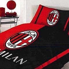 Idea Regalo - Milan 6391 673 P501 Completo Letto Una Piazza, Cotone, Rosso, Singolo, 90 x 200 cm