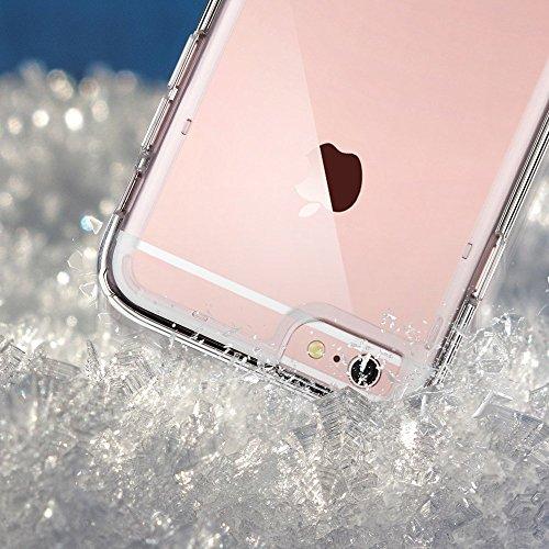 iPhone 6 Hülle, ULAK Apple iPhone 6S Hülle Case Weiche Silikon TPU Schutzhülle Stoßdämpfung Bumper und Anti-Kratz PC Zurück für iPhone 6 6s 4.7 Zoll (Kristall Klar) Kristall klar