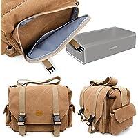 Duragadget Sac Toile de Coton pour Creative Nuno Micro/Nuno, Sound Blaster Roar 2 & Roar Pro Enceintes Portables - Couleur Sable, par