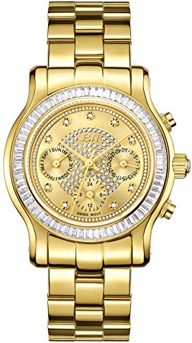 JBW WOMEN'S LAUREL 38MM 18K GOLD PLATED BRACELET SWISS QUARTZ WATCH J6330A