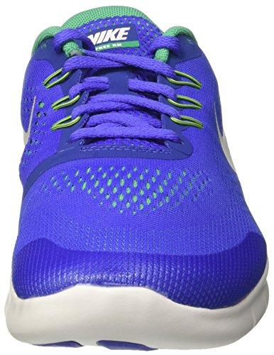 Nike Free Rn Gs, Scarpe da Corsa Bambino Blu (Paramount Blue/pure Platinum/stadium Green)