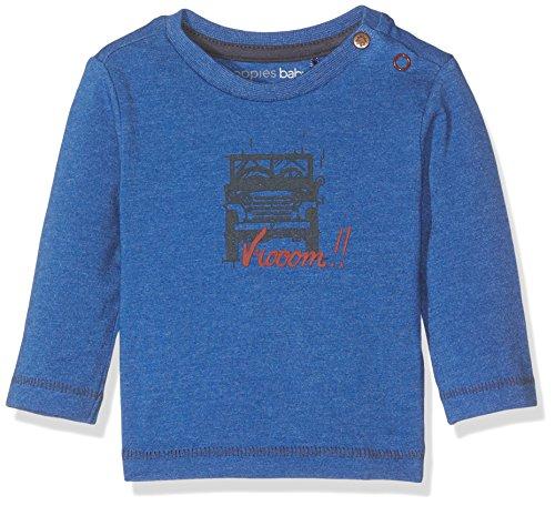Noppies Baby-Jungen Langarmshirt B Tee Ls Hoosick Blau (Blue Melange C147), 68