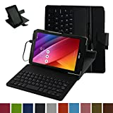 ASUS Zenpad 8.0 Z380C Micro USB Keyboard Case,Mama Mouth Rotary Stand PU Leather Case Cover With Removable Micro USB Keyboard for 8
