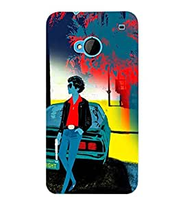 ColourCraft Gun Man Back Case Cover for HTC ONE M7