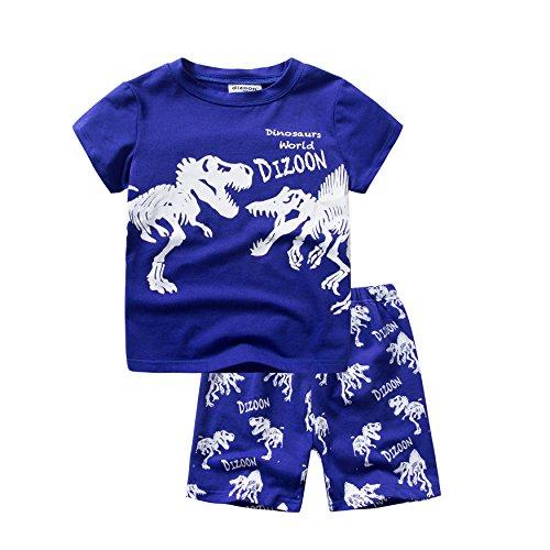 Baby Jungen Short Pyjama Dinosaurier Sets 2 Stück Baby Pjs Kinder Nachtwäsche Sommer Kinder Kleidung Größe 4 Jahre 100% Baumwolle (2 Stück Jungen Pjs)