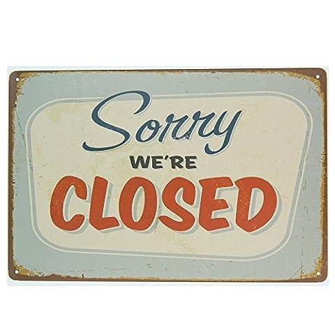 'ipekoo Door Sign Come In We Are Open Rétro Tin Sign–12