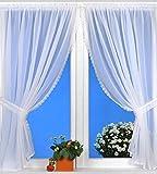 Kamaca Sunny Day - Cortina de Voile con 4 Pliegues, Color Blanco
