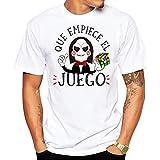 MardeTé Camiseta Que empiece el Juego. Divertida Camiseta para Hombre de Saw con el Cubo de Rubik. Regalo Divertido (M)