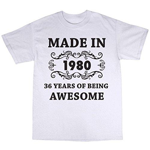 Made in 1980 T-Shirt Weiß