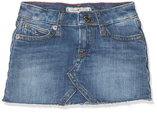 Tommy Hilfiger Baby-Mädchen Selena Denim Skirt FIAMC Rock Blau (Field Authentic Mid Comfort 911), Herstellergröße: 92