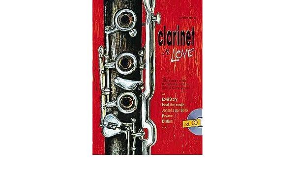 clarinet in love inkl cd 10 balladen fur 1 2 klarinetten und klavier musiknoten christoph schroer
