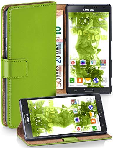 moex® Booklet mit Flip Funktion [360 Grad Voll-Schutz] für Samsung Galaxy Note 3 | Geldfach und Kartenfach + Stand-Funktion und Magnet-Verschluss, Grün - Wallet Note Case 3 Leather Galaxy