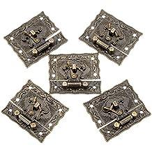 5 cierres broches metalicos vintage florales para scrapbooking, costura, decoracion.