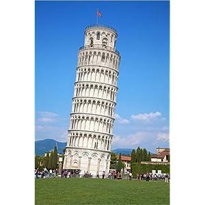 Posterlounge Acrylglasbild 20 x 30 cm: Der schiefe Turm von Pisa, Italien von Editors Choice – Wandbild, Acryl Glasbild, Druck auf Acryl Glas Bild