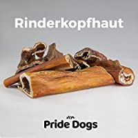 Rinderkopfhaut 1000g der Premium Kausnack für Ihren Hund | 100% Rind aus deutscher Herstellung | im wiederverschließbarem Beutel | Kauartikel von PrideDogs