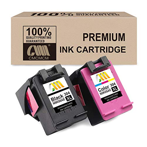 CmCmCm Remanufactured Ink Cartridge for HP 304 304XL para HP DeskJet 2630 3720 3730 3735 3750 3760 Envy 5030 5032 5020 (1 Negro, 1 Tricolor) high capacity