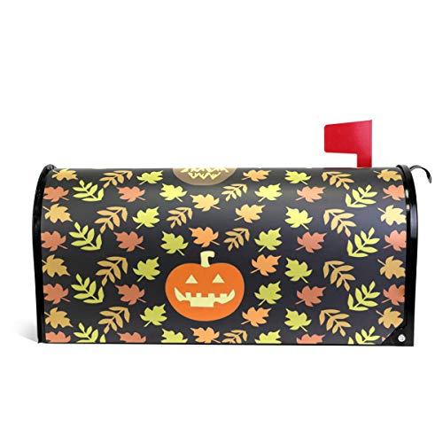 Alaza(mailbox cover) WOOR Halloween Herbst Kürbis und Blätter magnetische Briefkasten-Abdeckung, Standardgröße, 45,7 x 52,1 cm 20.8x18 inch Standard Size Multi (Herbst Halloween Deko-ideen)