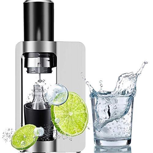 FYLD Wassersprudler, Edelstahl Gehäuse, Soda Sprudelwasser, inkl. PET-Flasche, kompatibel mit CO2 Sodastream Zylindern, 27 * 10 * 44CM