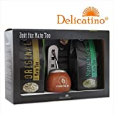 Geschenkset Delicatino CALABAZA - Natural Green - Original - Calabaza Delicatino - Bombilla
